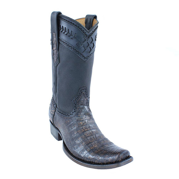 Cuadra Men's Lumber Moka Caiman Belly Boots - Semi Square Toe - RR Western Wear, Cuadra Men's Lumber Moka Caiman Belly Boots - Semi Square Toe