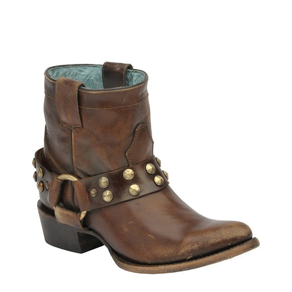 Corral Ladies Sierra Tan Harness & Studs - RR Western Wear, Corral Ladies Sierra Tan Harness & Studs