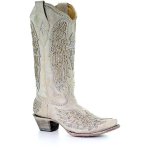 Women's Corral Western Wedding Boots Handcrafted - A3571