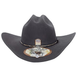 5x Larry Mahan Brindle Fur Felt Cowboy Hat Granite - RR Western Wear, 5x Larry Mahan Brindle Fur Felt Cowboy Hat Granite