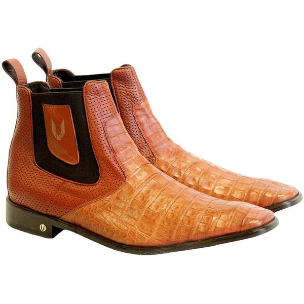 7062dd577dd Men's Vestigium Genuine Caiman Belly Chelsea Boots Handcrafted