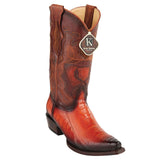 Cognac-Burnished-Ostrich-Leg-Snip-Toe-Bo