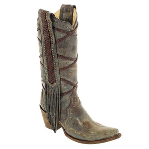 Corral Women's Braided Overlay and Studs Western Boots - RR Western Wear, Corral Women's Braided Overlay and Studs Western Boots