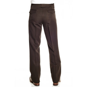 Circle S Men's Apparel - Solid Polyester Dress Ranch Pant - Brown - RR Western Wear, Circle S Men's Apparel - Solid Polyester Dress Ranch Pant - Brown