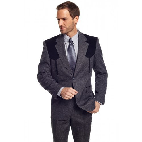 Circle S Men's Apparel - Heather Boise Sportcoat - Charcoal - RR Western Wear, Circle S Men's Apparel - Heather Boise Sportcoat - Charcoal