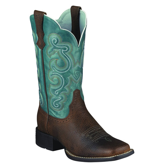 Ariat Women's Quickdraw Brown Oiled Rowdy - RR Western Wear, Ariat Women's Quickdraw Brown Oiled Rowdy