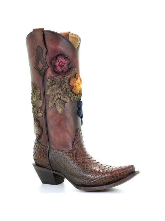 Women's Corral Python Exotic Boots Handcrafted - C3411