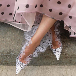 Retro Polka Dot Lace Shoe