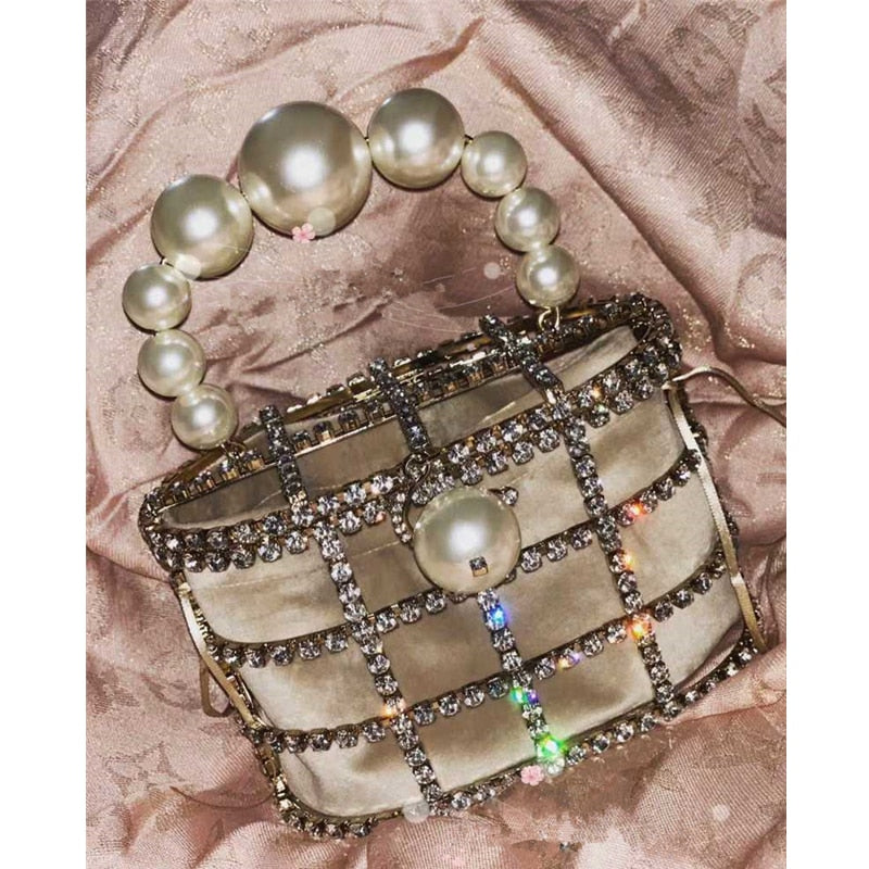 Pearl Vintage Evening Bag
