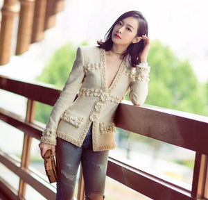 2020 Luxury 2 pcs Tweed Blazer & Skirt