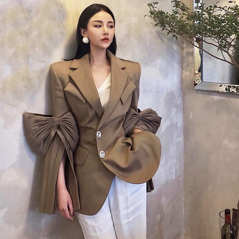Lapel Design Sleeve Elegant High-grade Blazer