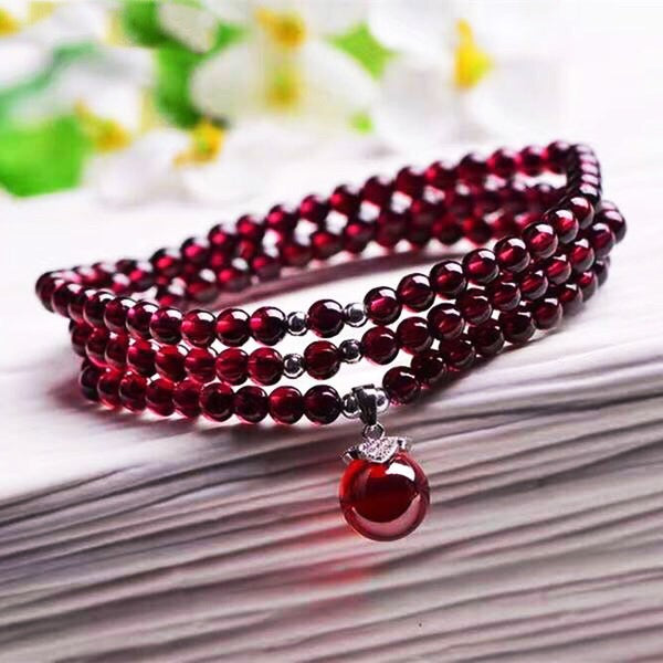 Natural Garnet Wine Color Bracelet