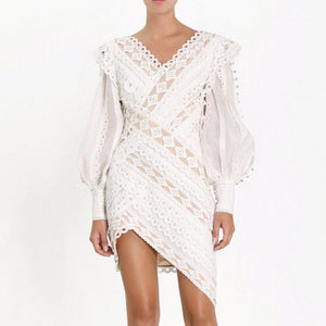 Luxury Beading Irregular Patchwork Dress