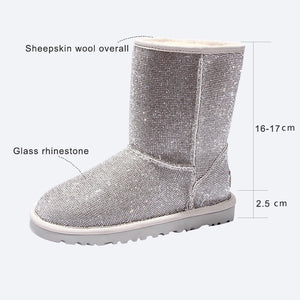 Sheep Skin Diamond Boot