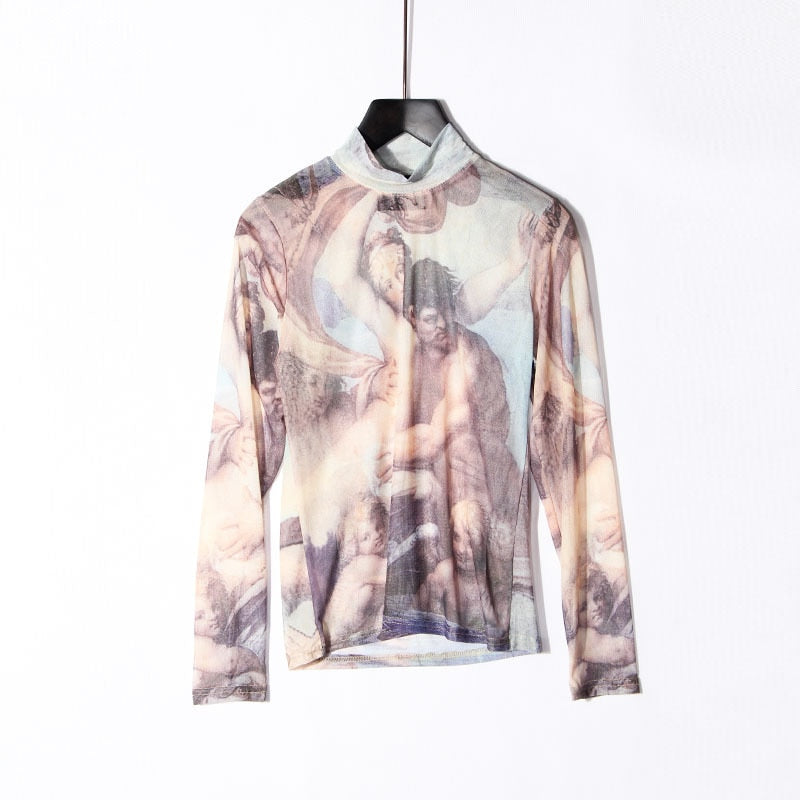 See through Vintage Baroque T-shirt