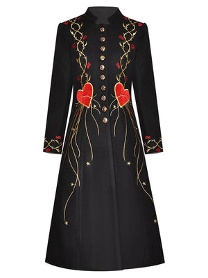 Wooden Embroidery Coat