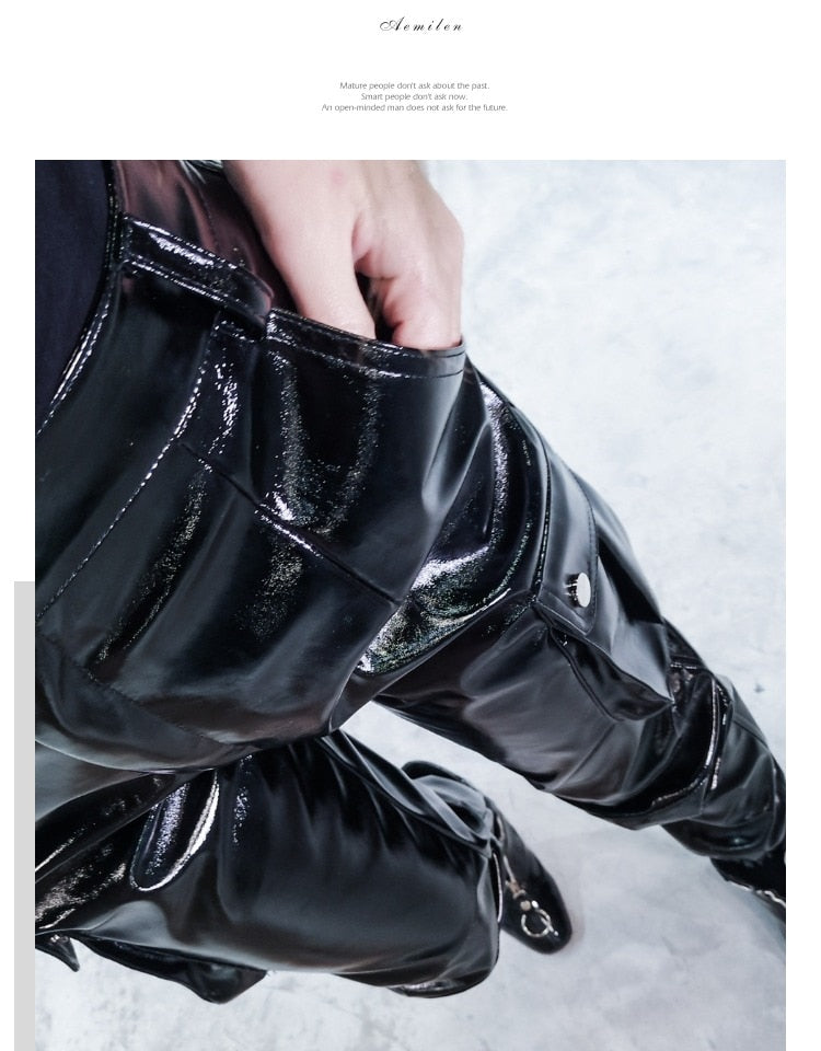 Glossy Patent PU Leather Pant