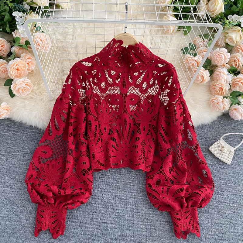 Lace Hollow Out Blouse