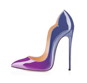 Gradient Patent Leather Shoe