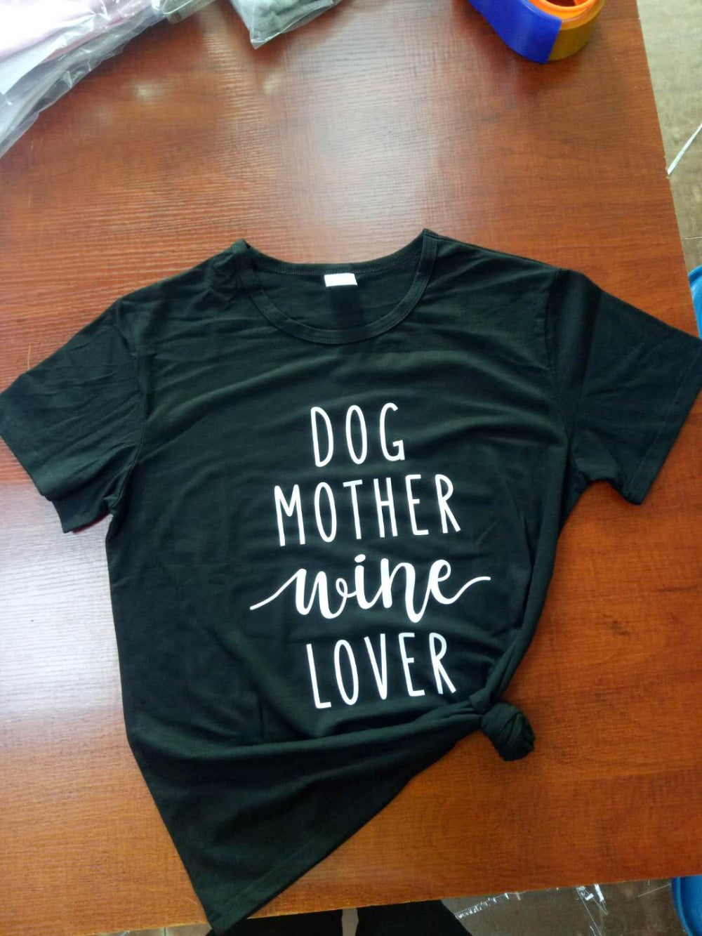 Dog Mother Wine Lover T Shirt