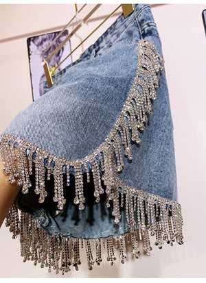 Bling Diamond Short Jean