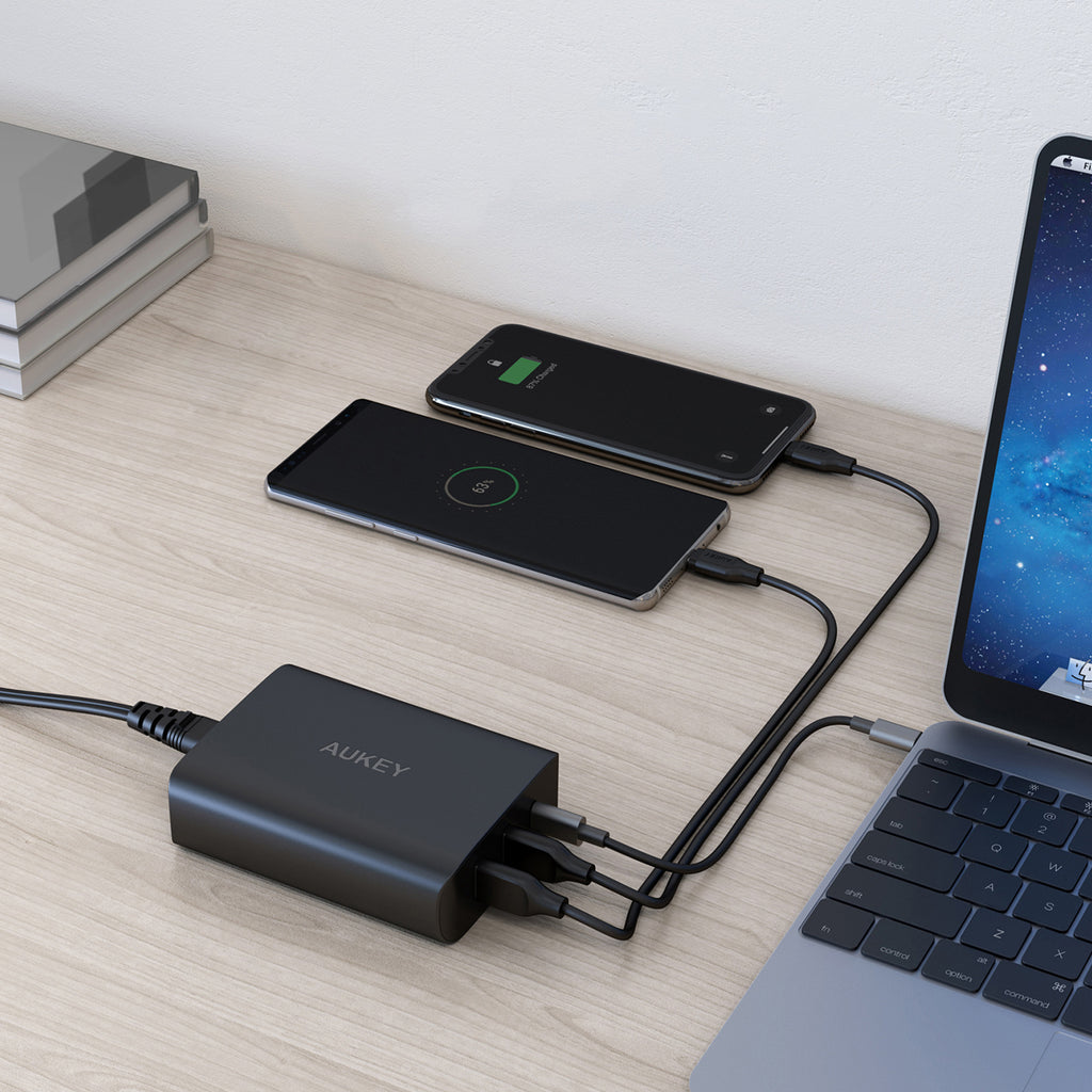 Aukey 3-Port USB Charging Station  with 46W Power Delivery and Quick Charge 3.0 (PA-Y13)