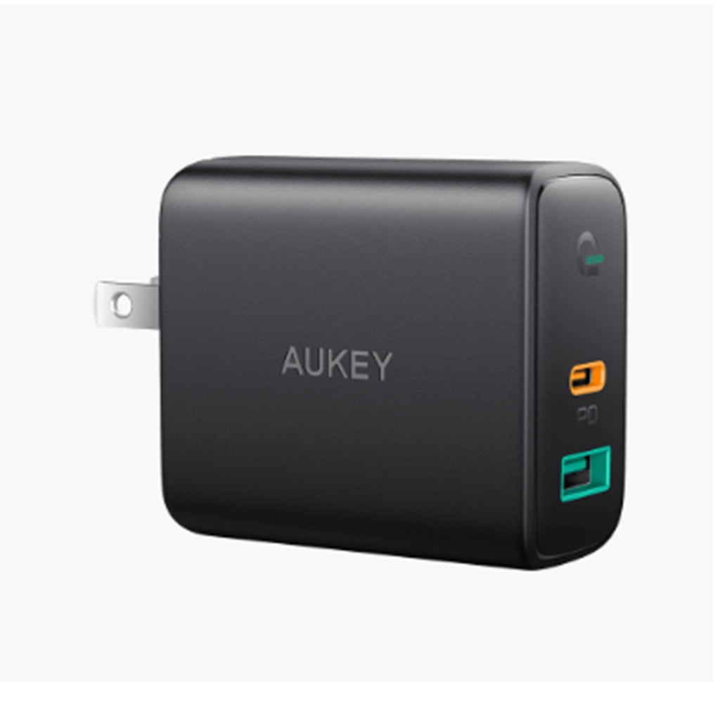 Aukey Dual-Port 30W PD Wall Charger with Dynamic Detect (PA-D1)