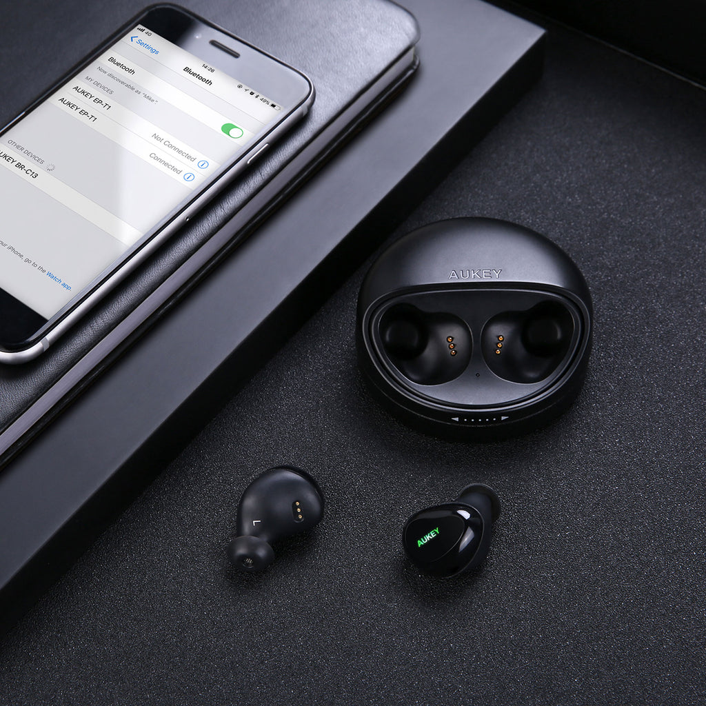 Aukey True Wireless Stereo Earbuds With Charging Case (EP-T1)