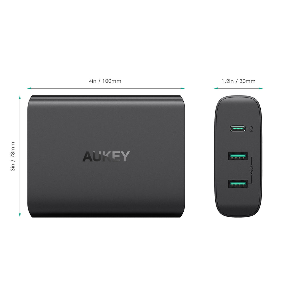 Aukey 3-Port USB Charging Station with 60W Power Delivery (PA-Y12)