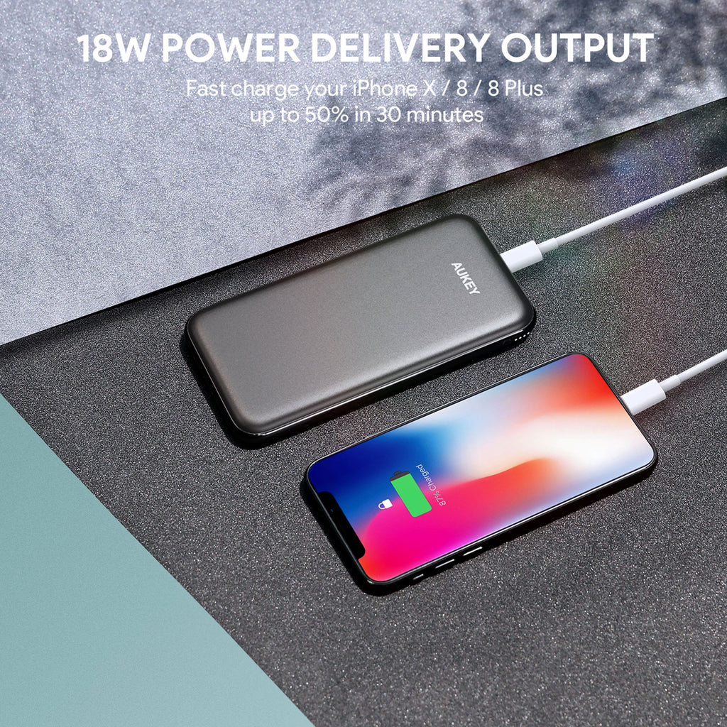 Aukey 10000mAh Power Bank with Power Delivery (PB-Y13)