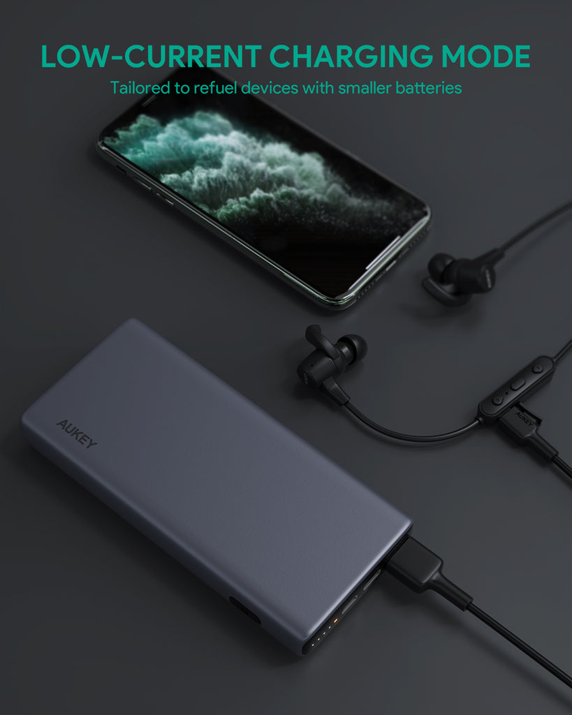 AUKEY PB-Y32 18W PD QC 3.0 10000mAh Power Bank with Wireless Charging (PB-Y32)