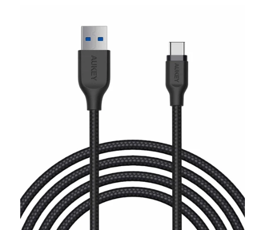 Aukey Braided Nylon USB 3.1 A to C Cable (6.6ft) (CB-AC2)