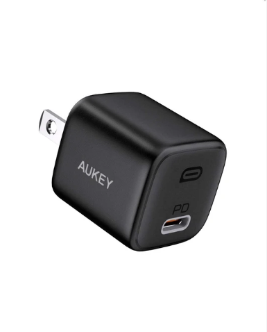 Aukey On The Go Bundle I Mini 20W PD Wall Charger Portable 10000mAh PD Power Bank Nylon Braided 1.2m USB-C To Lightning Cable ( TK-2 )