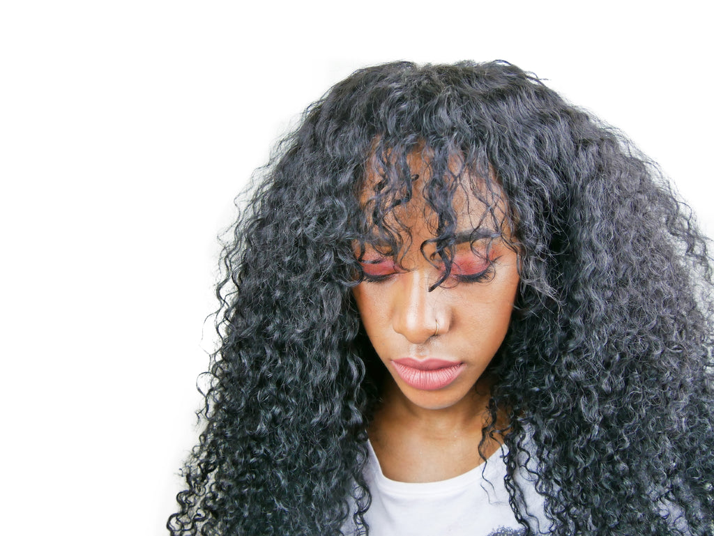"Curly ""Luchi""  Natural Hair Clip Ins - Curly2Kinky"