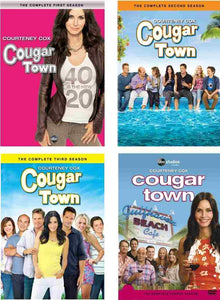 COUGAR TOWN COMPLETE SEASONS 1 2 3 4 10 DVD SET USA RETAIL