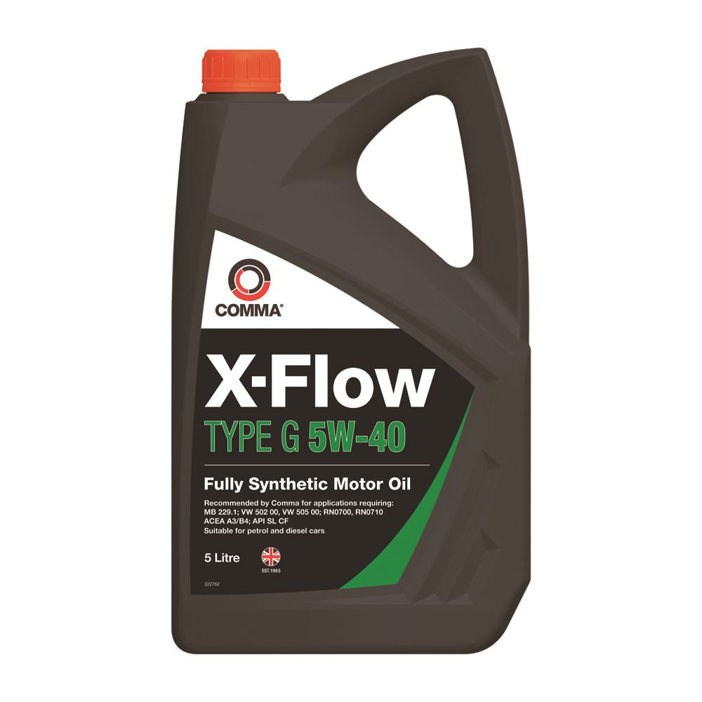 Comma - XFG5L  - X-FLOW TYPE G 5W40   Fully synthetic motor oil ACEA A3/B3 5L