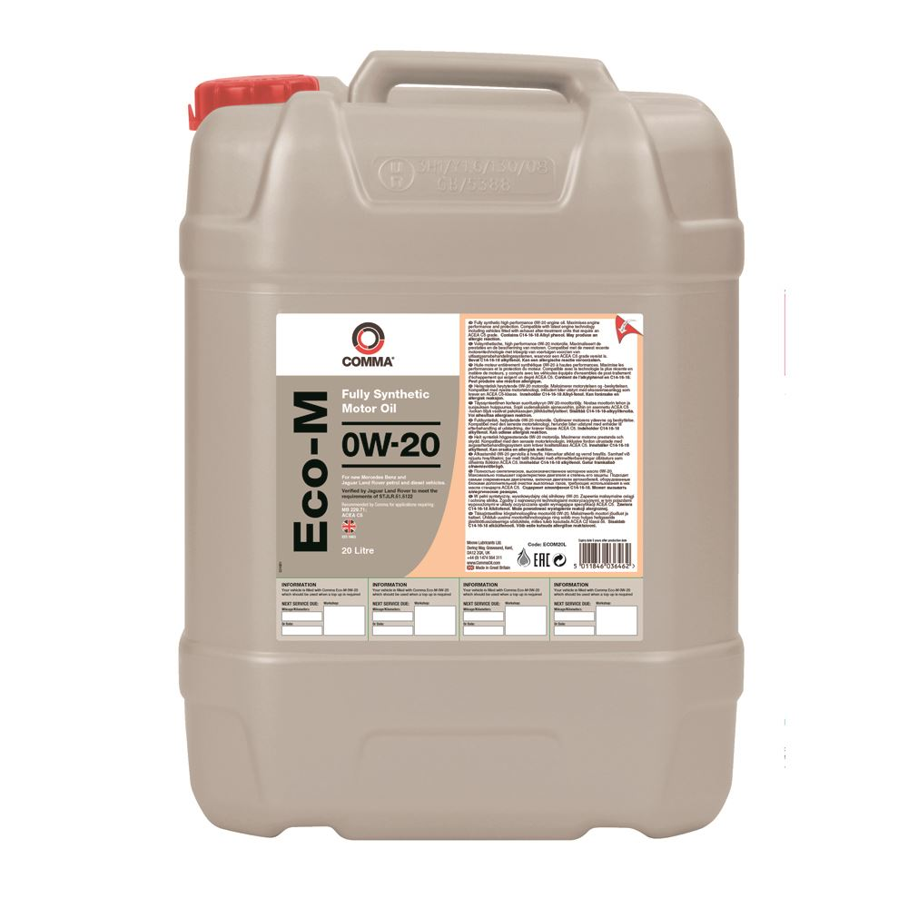 Comma - ECOM20L  - ECO-M 0W20 Fully synthetic motor oil ACEA C5 20L