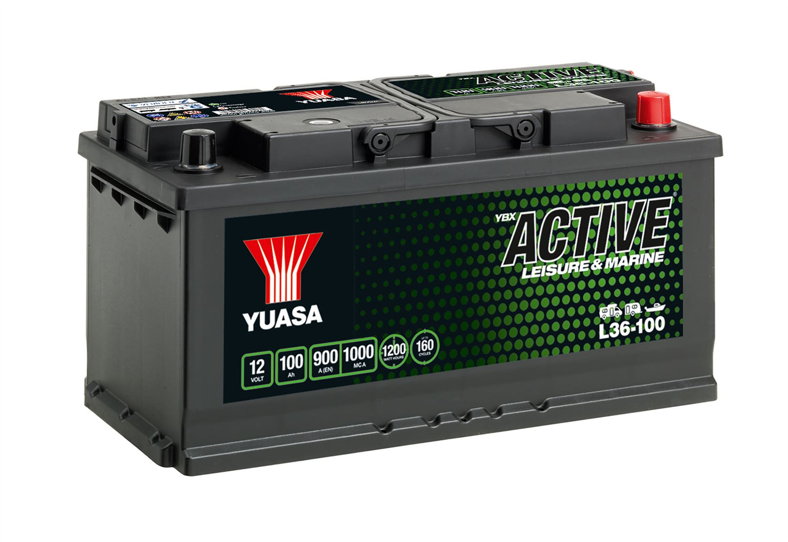 Yuasa L36-100 Active Leisure & Marine Battery