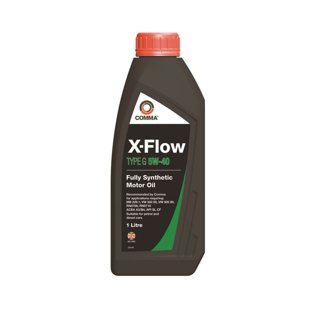 Comma - XFG1L  - X-FLOW TYPE G 5W40   Fully synthetic motor oil ACEA A3/B3 1L