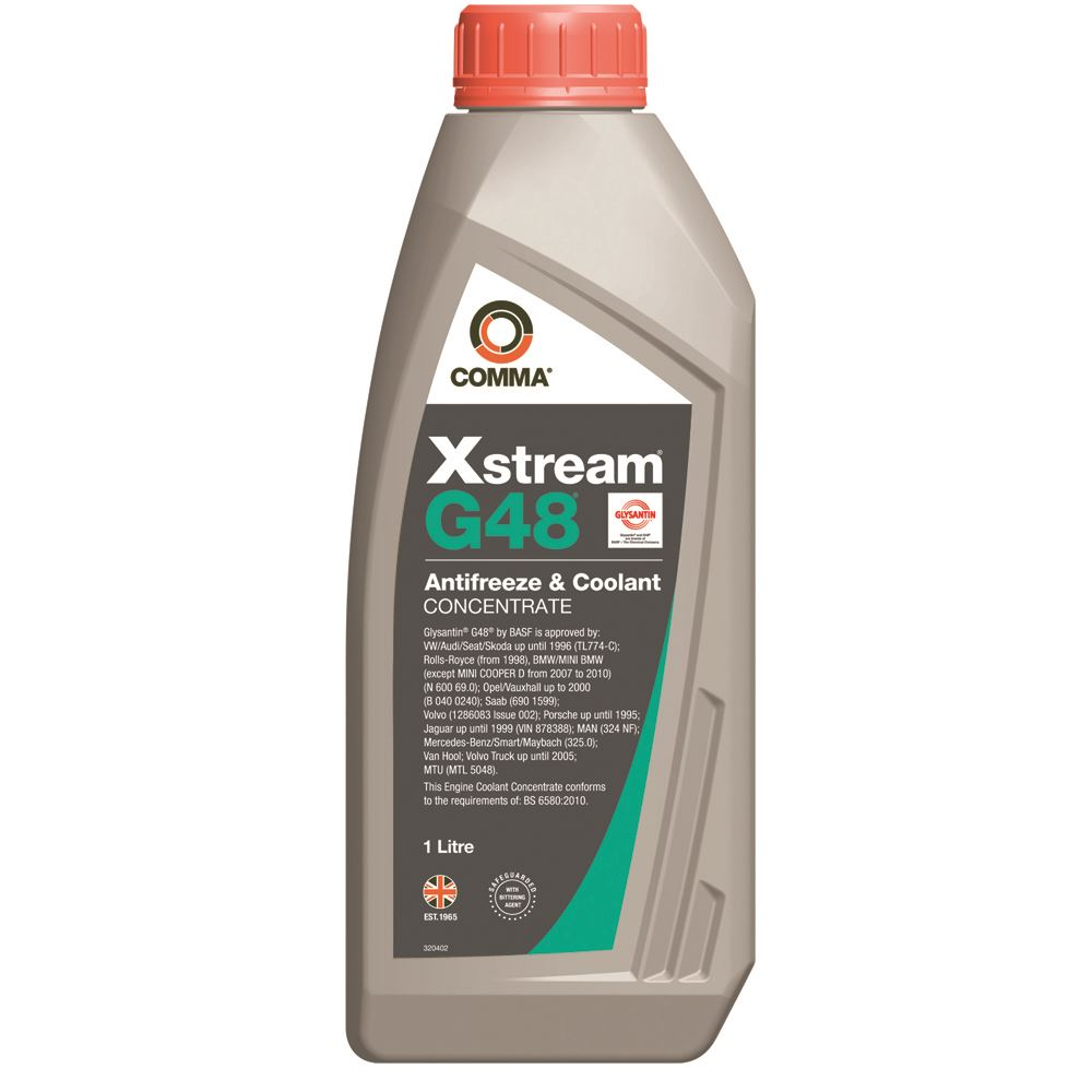 Comma - XSG1L  - XSTREAM G48 OEM Approved Antifreeze & Coolant BS-6580-2010 1L