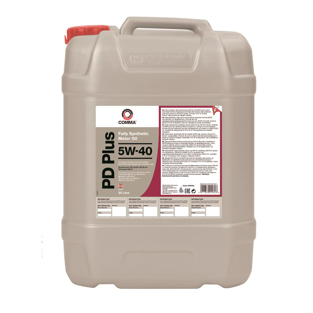 Comma - DPD20L  - PD PLUS 5W40 Fully synthetic motor oil ACEA C3 20L