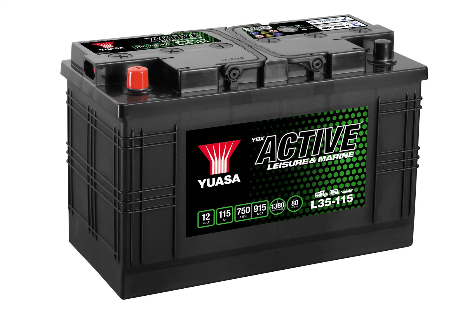 Yuasa L35-115 Active Leisure & Marine Battery