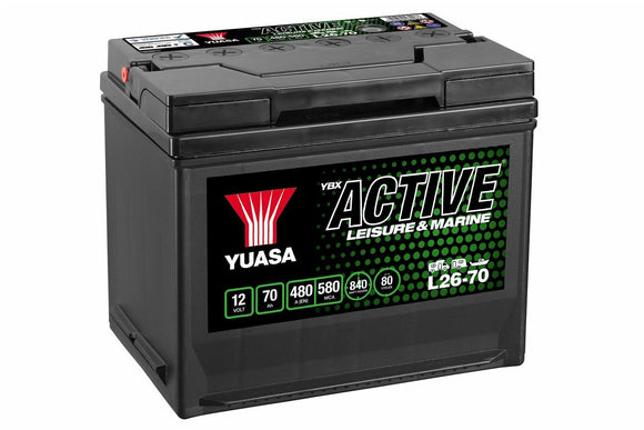 Yuasa L26-70 Active Leisure & Marine Battery