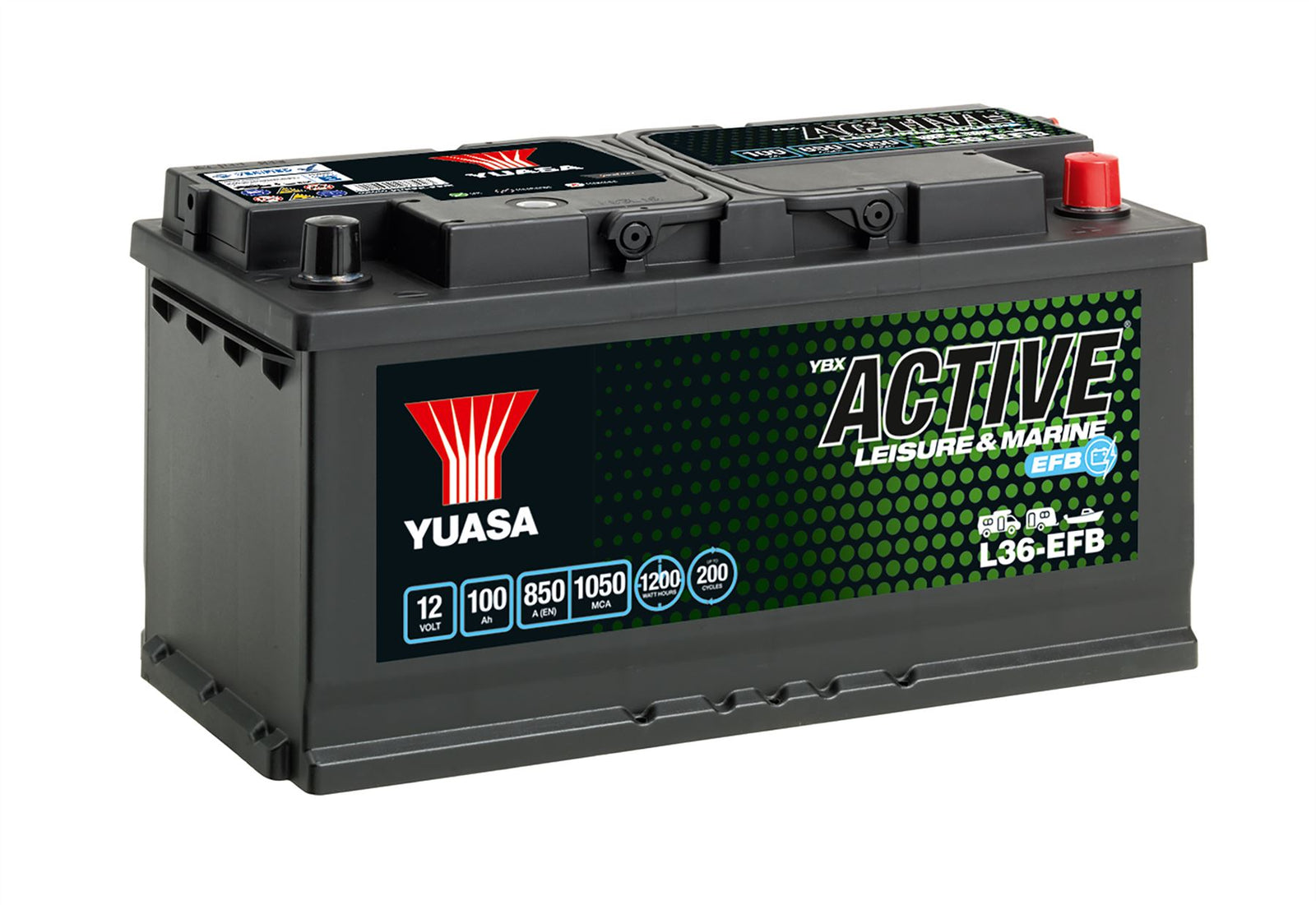 Yuasa L36-EFB Active Leisure & Marine EFB Battery