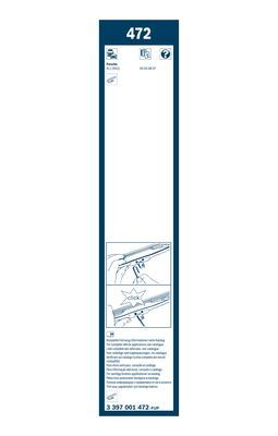 Bosch - 3397001472 /  472 Set of wiper blades, Twin