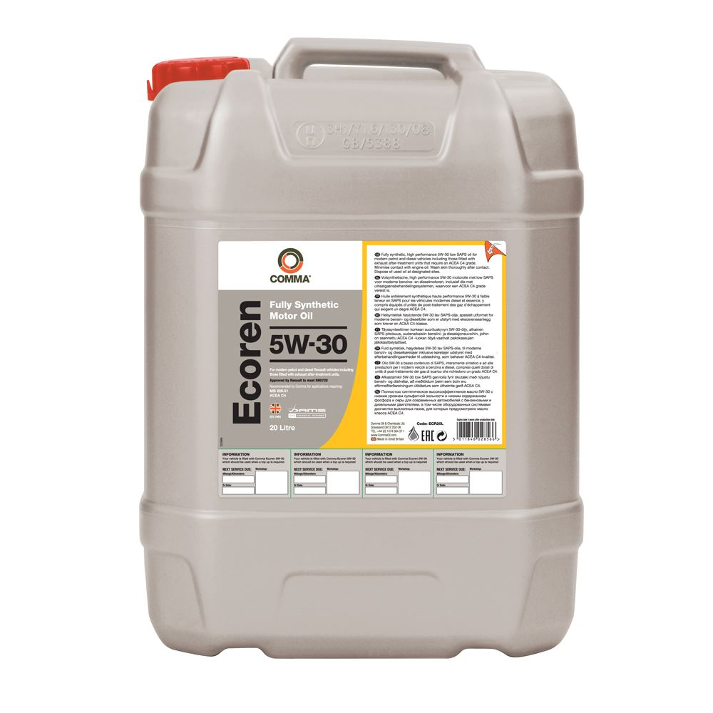 Comma - ECR20L  - ECOREN 5W30 Fully synthetic motor oil ACEA C4 20L