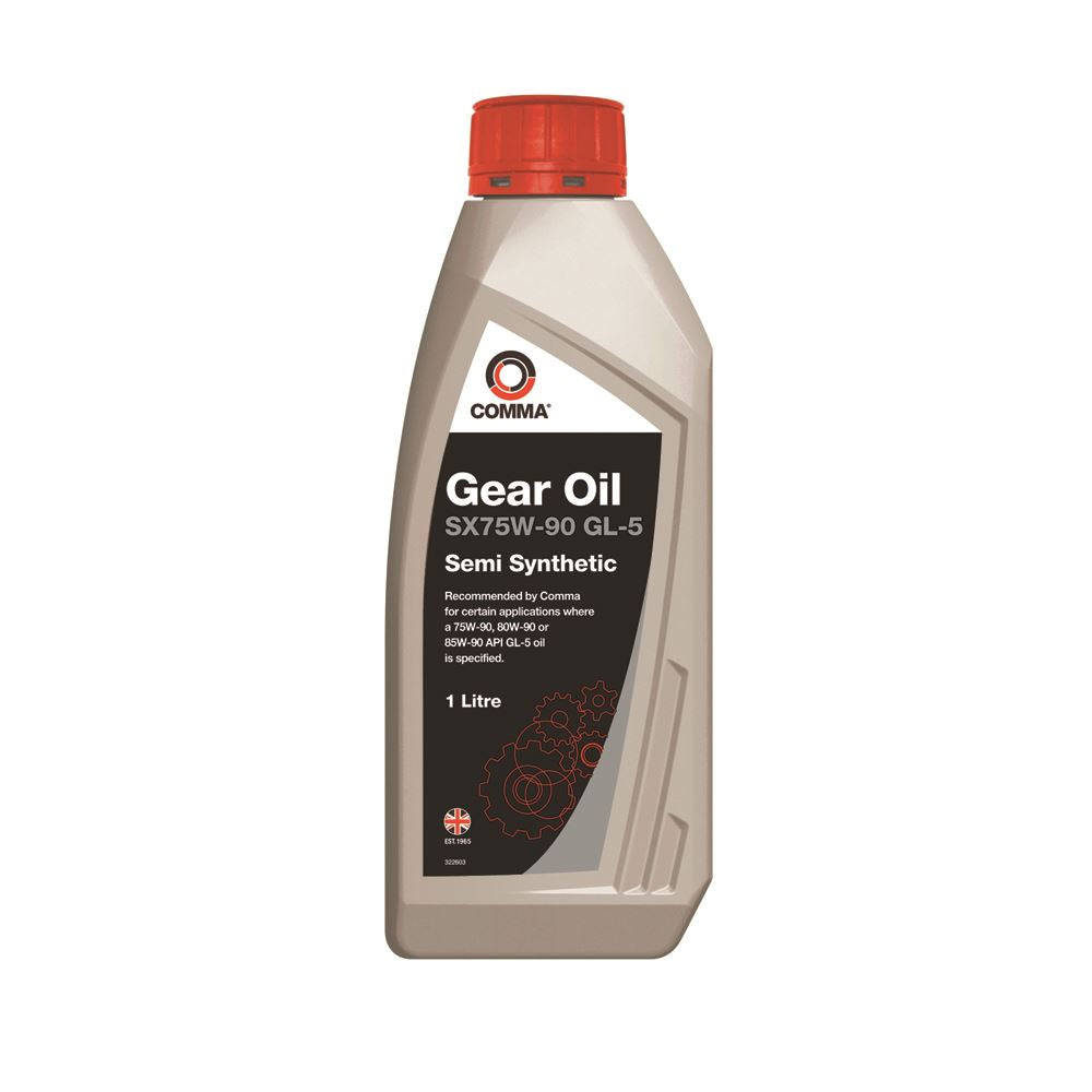 Comma - SX1L  - SX75W90 GL-5 Recommended by Comma for certain Gear Oil 1L