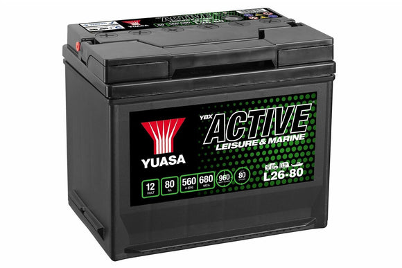 Yuasa L26-80 Active Leisure & Marine Battery
