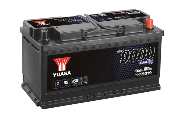 Yuasa YBX9019 AGM Start Stop Plus Battery EU DIN