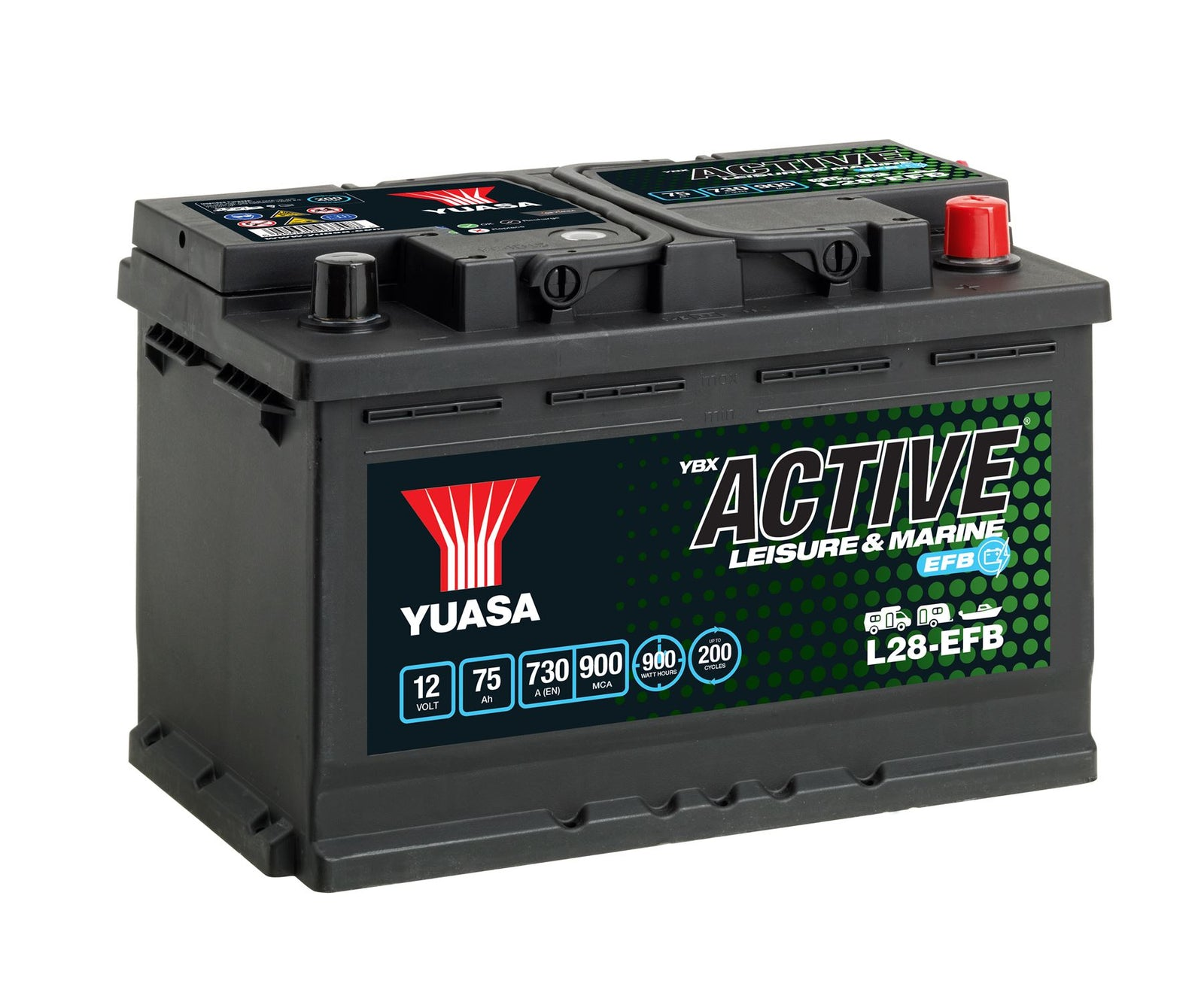 Yuasa L28-EFB Active Leisure & Marine EFB Battery
